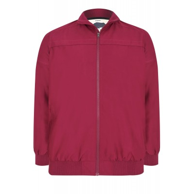 Burgundy Harrington Bomber Jacket