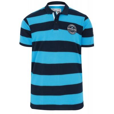 Albastru Navy Stripe Polo