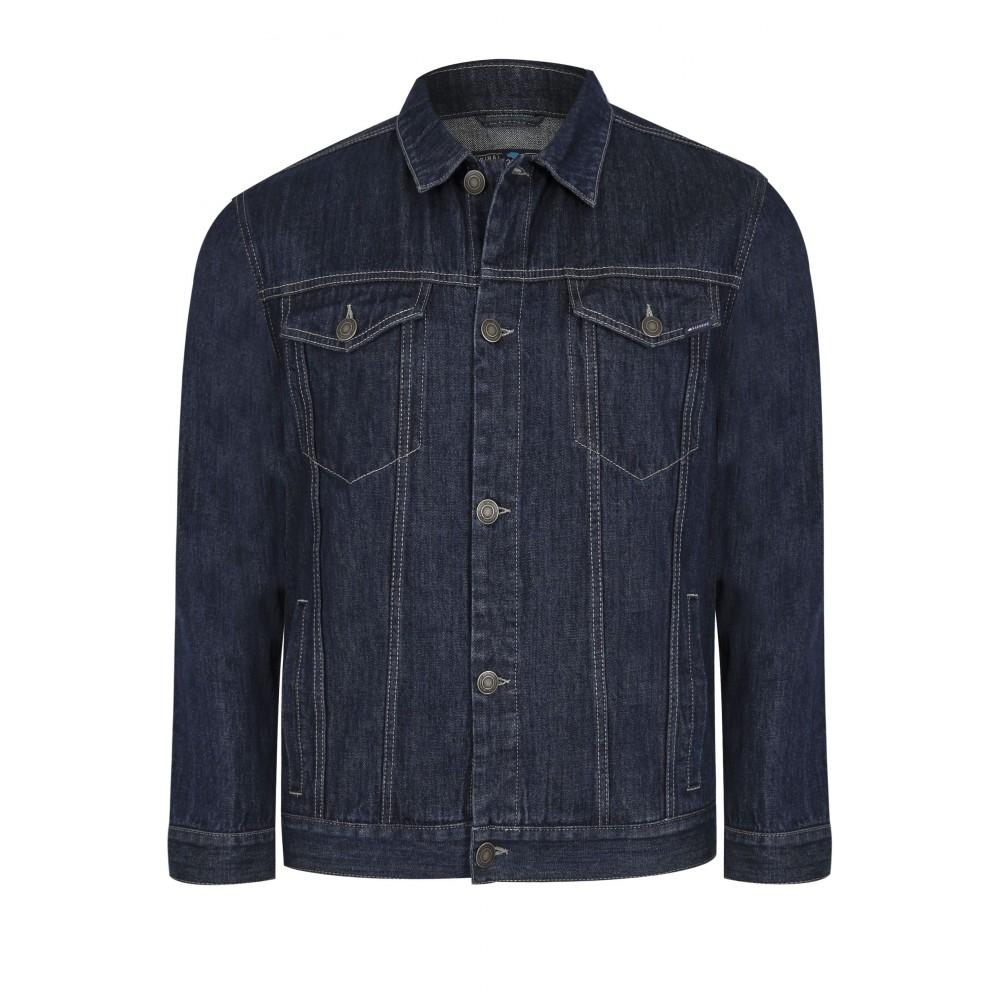 Jachetă albastră de denim